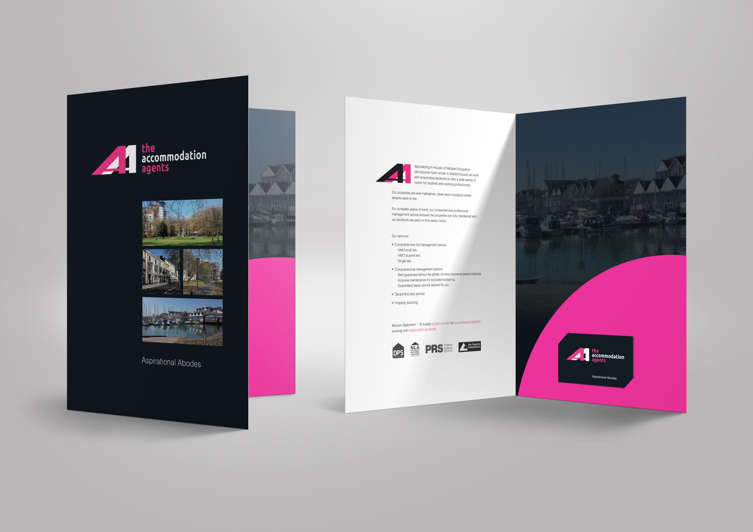 Folder design for letting agent